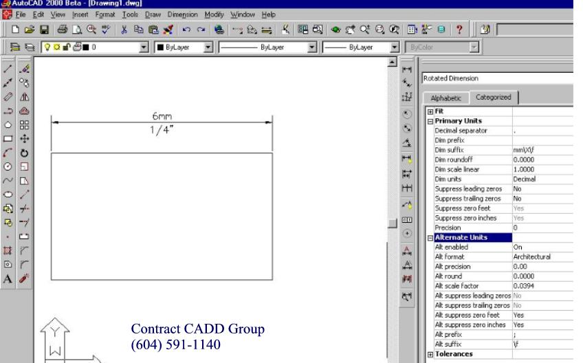 how to change dimension units in autocad